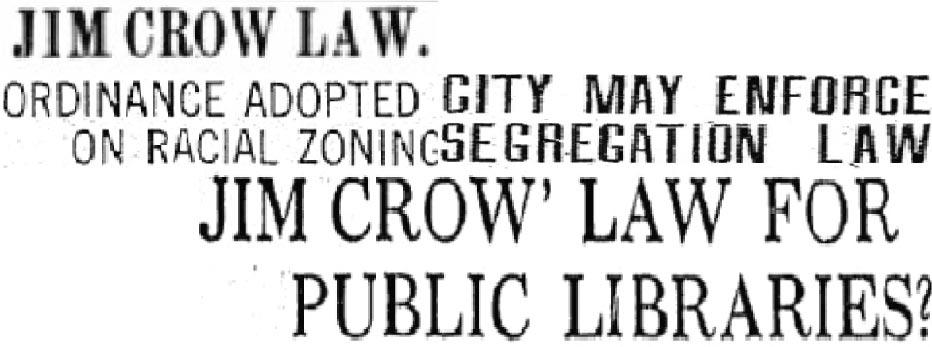 jim crow newspaper headlines