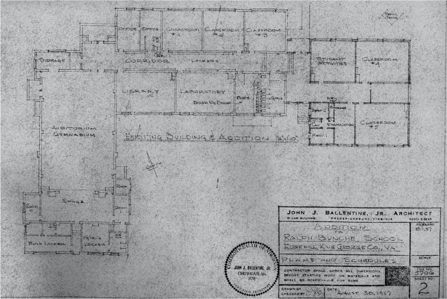 Ralph Bunche High School Blueprint